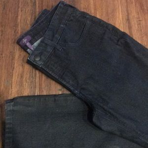 Dark Blue NYDJ MARYLIN STRAIGHT Jeans SIZE 8 EUC
